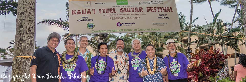 Kaua'i Steel Guitar Festival Musicians and Producers