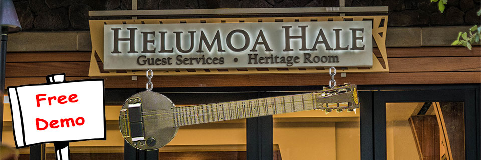 Steel Guitar Demos at the Royal Hawaiian Center